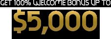 Get 100% Welcome Bonus